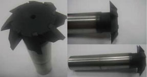 BW High Precision 8 flute T type Single-Angle Chamfering Cutter.